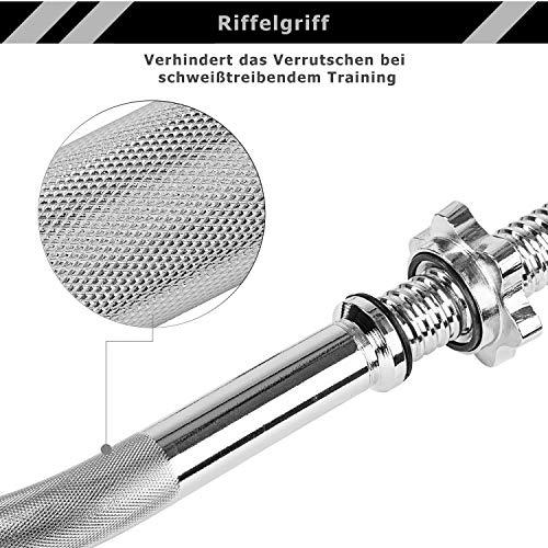 MOVIT® Gusseisen Kurzhantel 2er Set - 6